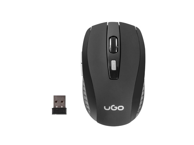 MOUSE UGO MY-03 WIRELESS 1800DPI OPTICAL BLACK